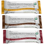 Kenzen Paleo Bar - Chocolate Nut only has 4 ingredients - Dates, Almonds, Walnuts and Cocoa Powder. All organic. Nothing else.
