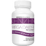 Kenzen Mega Daily 4 made from the full spectrum of organic vegetable super foods. Formulated for the specific needs of women.
