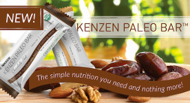 Kenzen Paleo Bars - the new 100% organic snack bar from Nikken has only 4 ingredients.