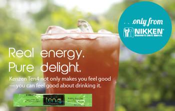 Kenzen Ten4 energy drink mix is real energy and pure delight.