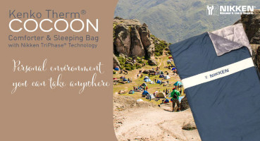 The KenkoTherm Cocoon from Nikken is a magnetic sleeping bag with ceramic and tourmaline fibers for added comfort.