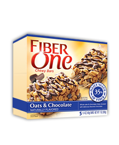 The Fiber One bar is high in fiber, and in processed ingredients.