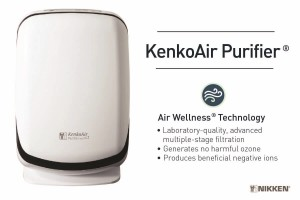 The Kenko Air Purifer is a multistage air filter with ULPA technology for superior air filtration