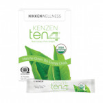 Kenzen Ten4 energy drink mix is made from matcha green tea and kiwi fruit.