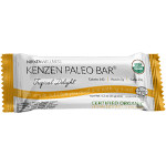 Kenzen Paleo Bar - Tropical Delight only has 4 ingredients - Dates, Pineapple, Almonds and Coconut. All organic. Nothing else.