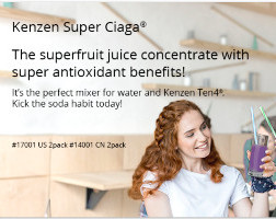 Kenzen Super Ciaga Juice from Nikken is made from Maqui and Elderberry juices.