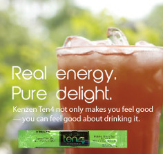 Kenzen Ten4 energy drink mix is real energy and pure delight.